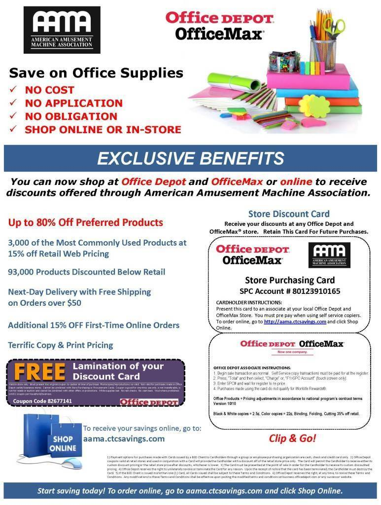 Office depot services register new product - Aama Marketing Flyer New
